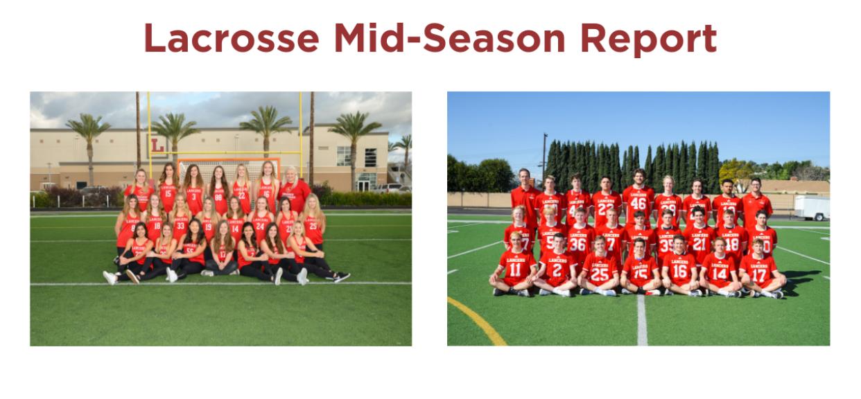 Boys & Girls Lacrosse Mid-Season Report