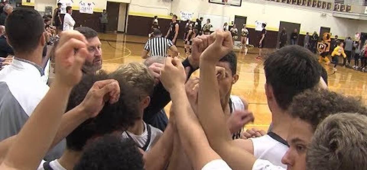 1/19/18 Boys Basketball: Santa Fe Christian 74, Francis Parker 57