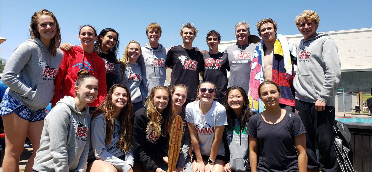 SFC Girls swim Team Dominate First Pace and Boys Team crush the Avocado EAST Leagues!