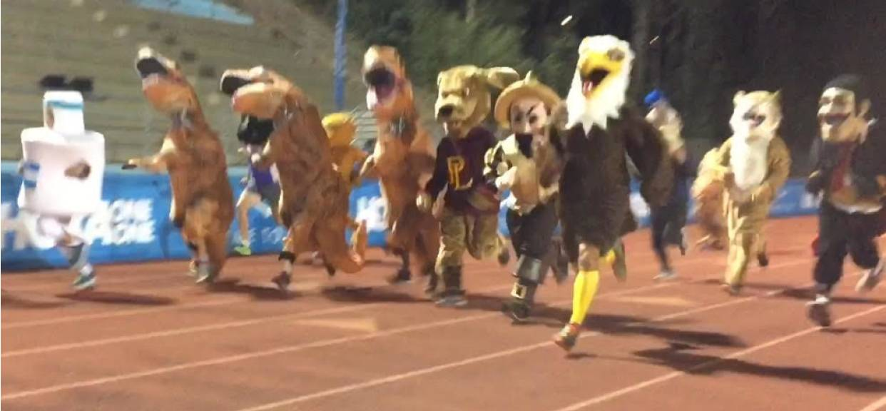 SFC Eagle Competes in Mascot Race