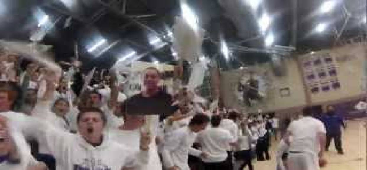 Carlsbad Lancers White-Out Silent Night BasketBall game againet Vista!