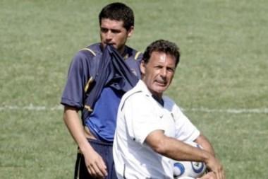 JR y Russo, en el 2007, en aquel Boca campeón de la Copa Libertadores.