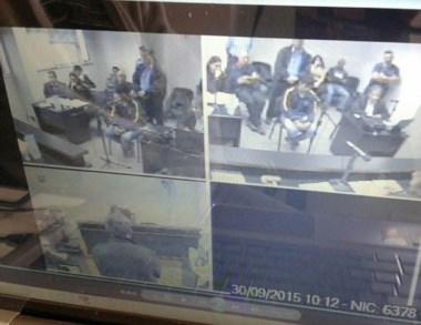 Imágenes captadas de la audiencia de revisión por el caso Sorias.
