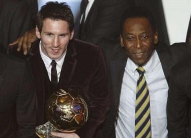 Pelé, que volvió a la India 38 años después de su primera visita al gigante asiático, relativizó a Messi.