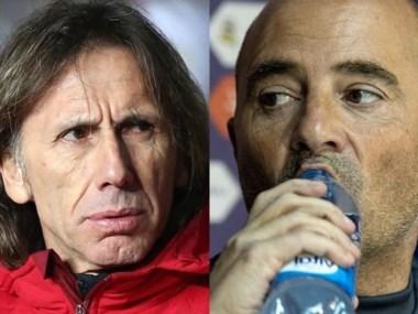 Gareca y Sampaoli. Dos técnicos argentinos frente a frente.