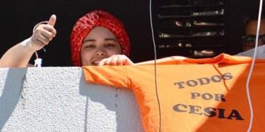 Ayuda. La familia de Cesia llevó adelante un festival solidario para juntar fondos para su tratamiento.