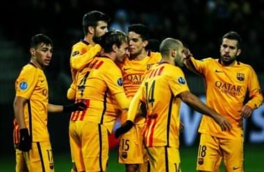 En una gran noche de Rakitic y Neymar, Barcelona se impuso en Bielorrusia.
