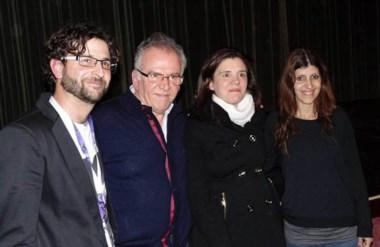 Marcelo Piñeiro, Lucrecia Cardozo (INCAA) y los creadores del MAFICI, Damián Martínez y Valeria Malatino.