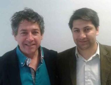 Daniel Laudonio junto a Sebastián López.