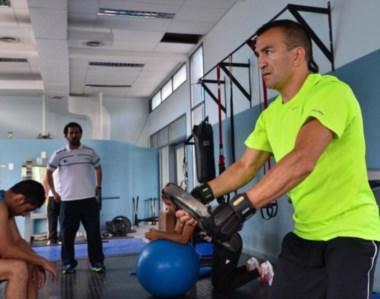 """El """"Huracán"""" entrenó duro para protagonizar su retorno al ring, que finalmente será en Caseros."""