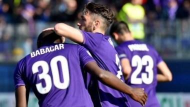 Gonzalo Rodríguez y un raro gol de taco para la Fiorentina.