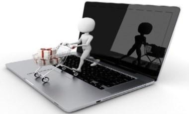 Simpática imagen de como los hábitos de consumo se canalizan por la web.