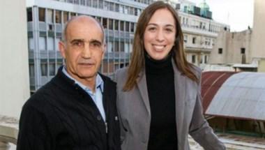Daniel Salvador y la gobernadora electa.