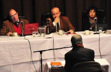 Jueces. Desde la izquierda, De Diego, Guanziroli y Monella, los magistrados que firmaron la condena.