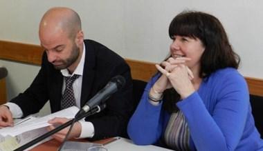 Dúo. Germán Kexel y la ministro Dufour, durante la audiencia.