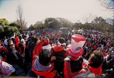 Los hinchas coparon las calles de Tokio en otro banderazo y le cantaron al Barça.