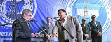 """""""Loma"""" Ávila a Petrominera. El sindicalista agradeció la confianza y  dijo que luchará por los trabajadores en un momento difícil para el sector."""