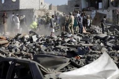 Una imagen de archivo de los ahora comunes ataques en Yemen.