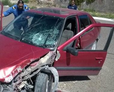 El vehículo, fuera de control, atropelló al turista al que internaron.