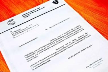 Imagen de la nota que informó a los concejales sobre tarifa de referencia