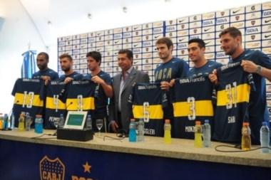 A la espera del uruguayo Lodeiro, Boca presentó parte de sus refuerzos.