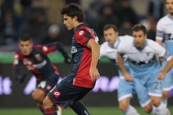Perotti estuvo en Boca pero prácticamente no jugó. Hoy le dio el triunfo al Genoa.