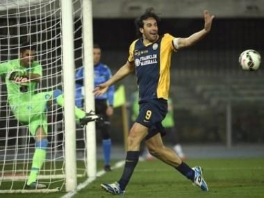 Luca Toni anotó uno de los goles del Hellas Verona.