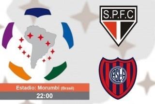 SanLorenzo se entrenó ayer en el Morumbí y Bauza confirmó a los 11 titulares.