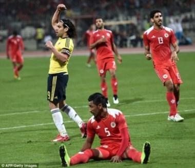 Falcao, sin continuidad en el Manchester United, anotó dos goles para su selección.