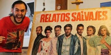 Cristian English ya realizó murales de largometrajes y personajes argentinos en las calles de Buenos Aires.