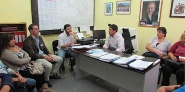 Funcionarios municipales se reunieron con directivos de ANSES por el Plan Nacional Hogar.