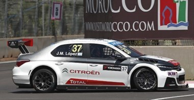 José María López dominó la clasificación del WTCC en Marruecos y Citroën volvió a hacer triplete.