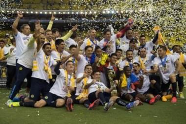 Así celebraron los jugadores del America su título en la Concachampions.