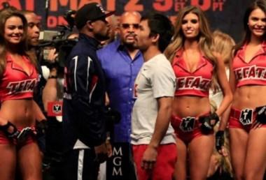 Fue el primer pesaje cobrado en la historia del boxeo. El de Manny Pacquiao y Floyd Mayweather.