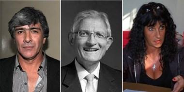 Trío. Desde la izquierda, Calvo, Cataldi y Wolansky, que buscarán una banca con Chubut Somos Todos.