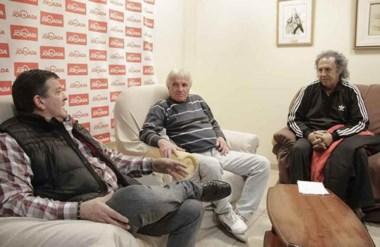 """Eduardo Do Brito, Julio Thomas  y """"Quique"""" Behr, anunciaron las actividades del domingo en el Nacional 72."""
