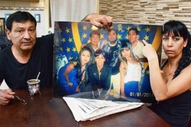 El dolor y el recuerdo no cesan. La última foto de la familia Aballay. Ellos sólo piden justicia  y responsables.