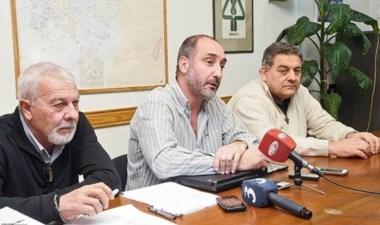 Lucas Marani, Esteban Abel y Daniel Pascualini, de Servicoop.