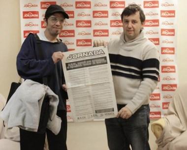 Javier Ponce y Pablo  Palicio  visitaron Jornada recordando la fecha.