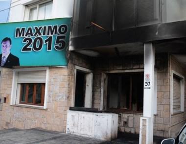 El local que sufrió el atentado en horas de la noche del martes.