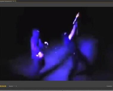 Una imagen del video grabado por un celular que sacudió Internet.