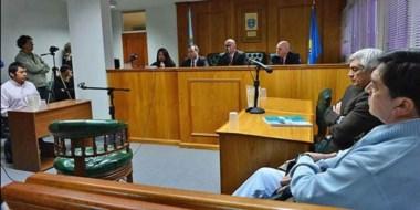 Durante la jornada de ayer, los jueces Barrios, Di Biasse y Arguiano dieron las penas por el caso Antillanca