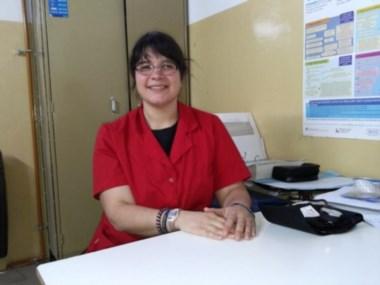 """María Cruz Cornejo, del Hospital Zonal """"Andrés Isola"""" de Puerto Madryn."""