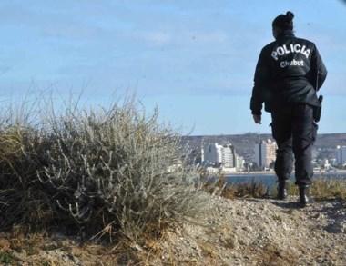 La Policía realizó rastrillajes en la zona de Punta Cuevas de Madyrn.