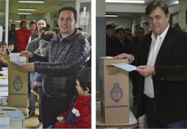 Comicios. El precandidato Adrián Maderna votó en la Escuela 762. Jornada. Pérez Catán votó, almorzó en familia y luego fue al búnker.