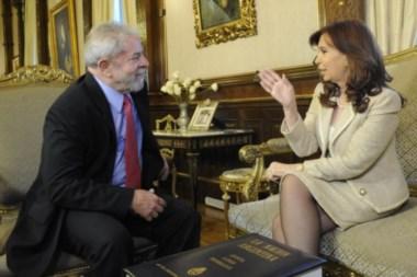 El líder brasileño y la senadora CFK, en tiempos no tan lejanos.