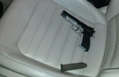 El automóvil Volkswagen Vento incautado por la Policía madrynense.