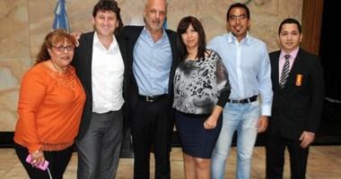 Unidos y organizados. Restucha, Buzzi, Mendoza y otros referentes del peronismo de Gaiman, tras acordar.