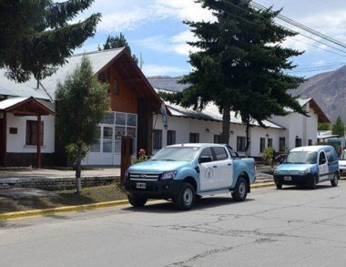 Vista de la Unidad 14 del SPF en el ingreso a la ciudad de Esquel.