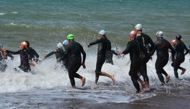 Largada de la 1ra. fecha, que se realizó el domingo 3 en Playa Unión.